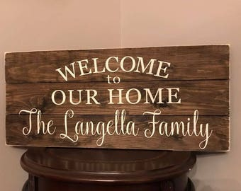 Outdoor Welcome Sign Etsy