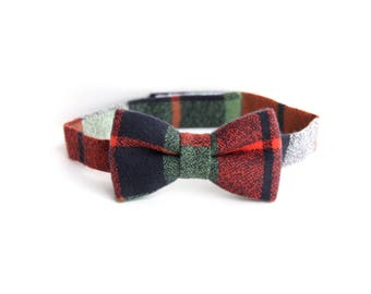 boys bow tie, kids bow tie, toddler bow tie, plaid bow tie, bow tie for toddlers