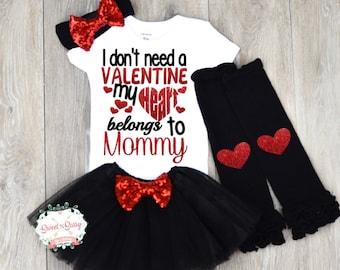 Mommys valentine, Mommy's valentine, Mommys Valentine Outfit, Girls Valentine shirt, First Valentine Outfit, Valentine shirt, Mommys girl