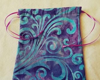 Purple and Blue Batik Bag