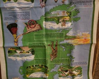 Linen Ireland: Land of Song Cloth Poster/Tea Towel