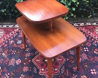 """Mid Century Modern """"Step Down"""" End Table"""