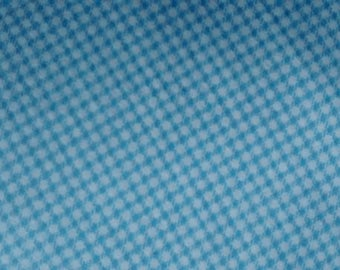 Light blue/white check cotton flannel fabric, 5 yards