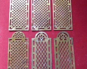 Gilt bronze door plates. all 6. Mid 19th century.