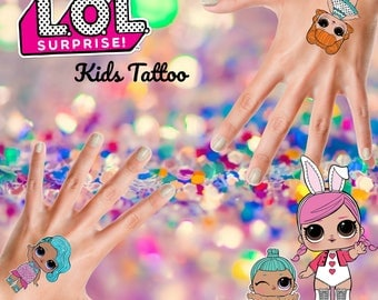 L.O.L Surprise Dolls - Custom made Kids Tattoo