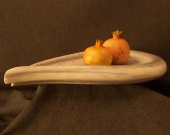 Marble Platter, Handmade Marble Bowl, Marble Sculpture