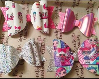 Lol doll - doll bows - hair bows - cute lol surprise - glitter bows - bow box - suprise box