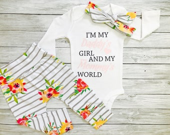 Baby Girl Outfits, Baby Girl Clothes, Baby Clothes Girl, Baby Girl Outfits Winter, Baby Girl Clothes Newborn, Daddy's Girl and Mommy's World