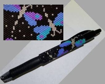 Dragonfly Beaded Pen Wrap