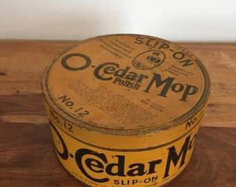 Vintage O-Cedar Mop Advertising Tin