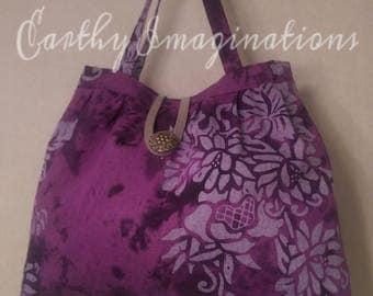 Purple Batik Handbag