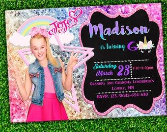 Jojo Siwa Invitation- Jojo Siwa Birthday Invitation-Jojo Siwa Party-Jojo Siwa Printable- Jojo Siwa Card