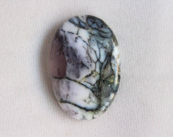 Dendritic Opal, Oval Cabochon, Dendritic Agate, Dendritic Agate Pendant Necklace, Jewelry Supplies, Size 30X20 mm,  AG#297