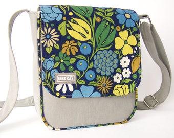 Upcycling shoulder bag denim / canvas