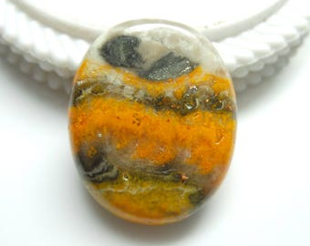 Bumble Bee Jasper Oval Designer Cabochon,Size 34x28x7 MM, Natural Jasper, AAA,Quality,Loose Gemstone, Smooth Cabochons.