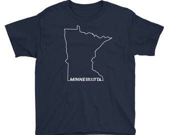 MinneSNOWta Cold Snowy Winters Tee - Minnesota Fans Life Kids/Youth Short Sleeve T-Shirt