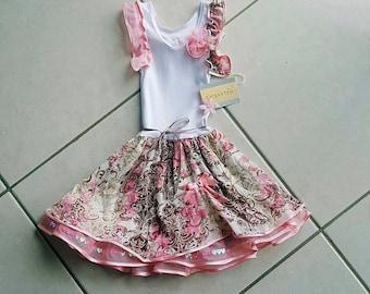 Handmade one off girls dress
