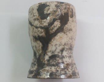 Ceramic vase raku naked.