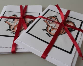 Fox and squirrel card pack