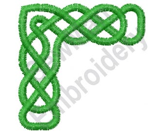 Celtic Knot Corner - Machine Embroidery Design