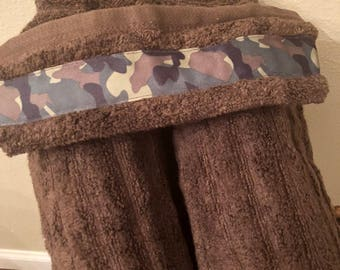 Camouflage Hooded Towel--100% Cotton!