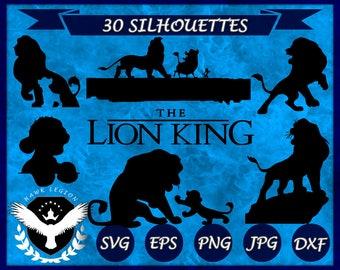 30 Lion King Silhouette   Lion King SVG   Lion King Clipart   Lion King Vector   Hakuna Matata   Simba Silhouette   Simba SVG   Digital File