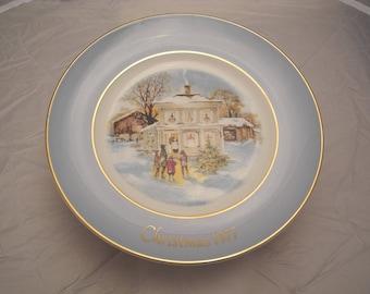Avon 1977 Christmas Plate Series 5th Edtion