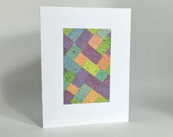Easter egg quilt blank card, individually handmade: A2, SKU BLA21067