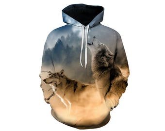 Wolf Hoodie, Wolf, Wolf Hoodies, Animal Prints, Animal Hoodie, Animal Hoodies, Wolves, Hoodie Wolf, Hoodie, 3d Hoodie, 3d Hoodies - Style 16