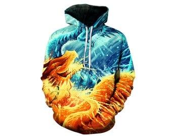 Dragon Hoodie, Dragon, Dragon Hoodies, Animal Prints, Animal Hoodie, Animal Hoodies, Dragons, Hoodie, 3d Hoodie, 3d Hoodies - Style 2