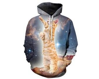 Cat Hoodie, Cat, Cat Hoodies, Animal Prints, Animal Hoodie, Animal Hoodies, Cats, Hoodie Cat, Hoodie, 3d Hoodie, 3d Hoodies - Style 11