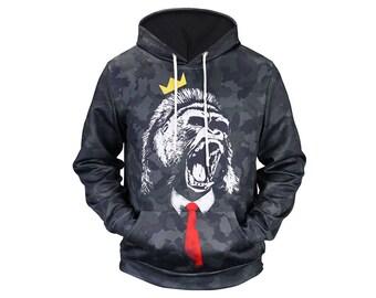 Monkey Hoodie, Monkey, Monkey Hoodies, Animal Prints, Animal Hoodie, Animal Hoodies, Monkeys, Hoodie, 3d Hoodie, 3d Hoodies - Style 8