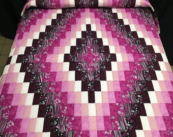 Amish Country Raspberry Navajo Quilt