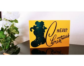 Christmas card, christmas card, handmade greeting card