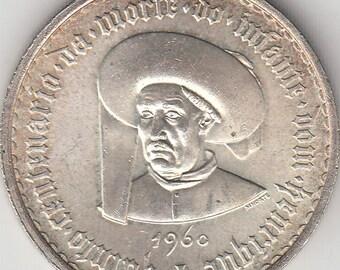 Portugal, 20 escudos of 1960 silver coin