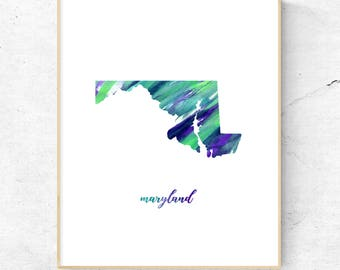 Maryland Art Print