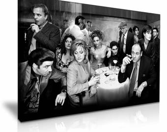 The Sopranos Stretched Canvas Print 76 cm x 50 cm