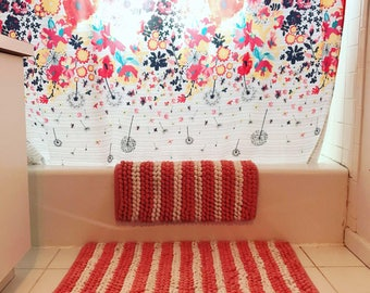 Pearl 2 Piece Bath Mat Set
