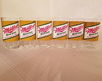 Miller high life beer glasses