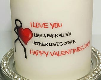 Unscented Pillar Candle,Gift For Her, Gifts, Valentines Gift, Funny Valentine's Gift, Wife Gift, Unique Gift, GirlFriend, Valentines Day