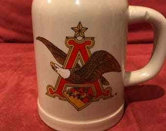 Vintage Anheuser Busch Collectible Mug/ Stein/ 1990's or earlier/Breweriana/Beer/Bar/Man Cave