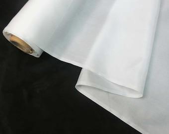 Off White or Black Pure Silk Lining Fabric Habutai / Habotai by 0.5 / HALF YARD ELE Yard or Meter or Small Sample