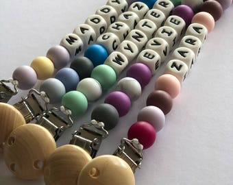 Personalised dummy clip / dummy chain/ soother clip  / pacifier clip/ baby shower gift