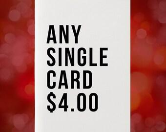 Single Card Of Your Choice