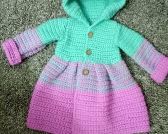 Crochet baby girl jaket