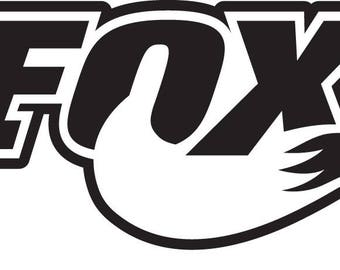 2 x Fox sticker