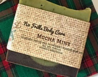 Mocha Mint All Natural Soap -Free Shipping