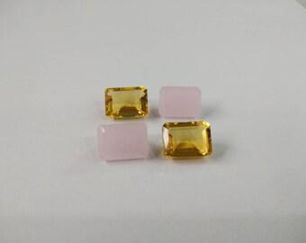 Loose Gemstones Brazilian CitrineQuartz And Rose Quartz  10-14-7 MM 28.50 Carat