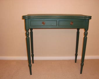 A Vintage Console/Card Table painted in Annie Sloan 'Amsterdam'