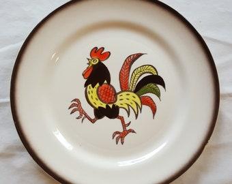 "Poppytrail by Metlox Rooster Ware 10"" Dinner Plate"